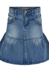 Creamie Lt Blue Flared Denim Skirt