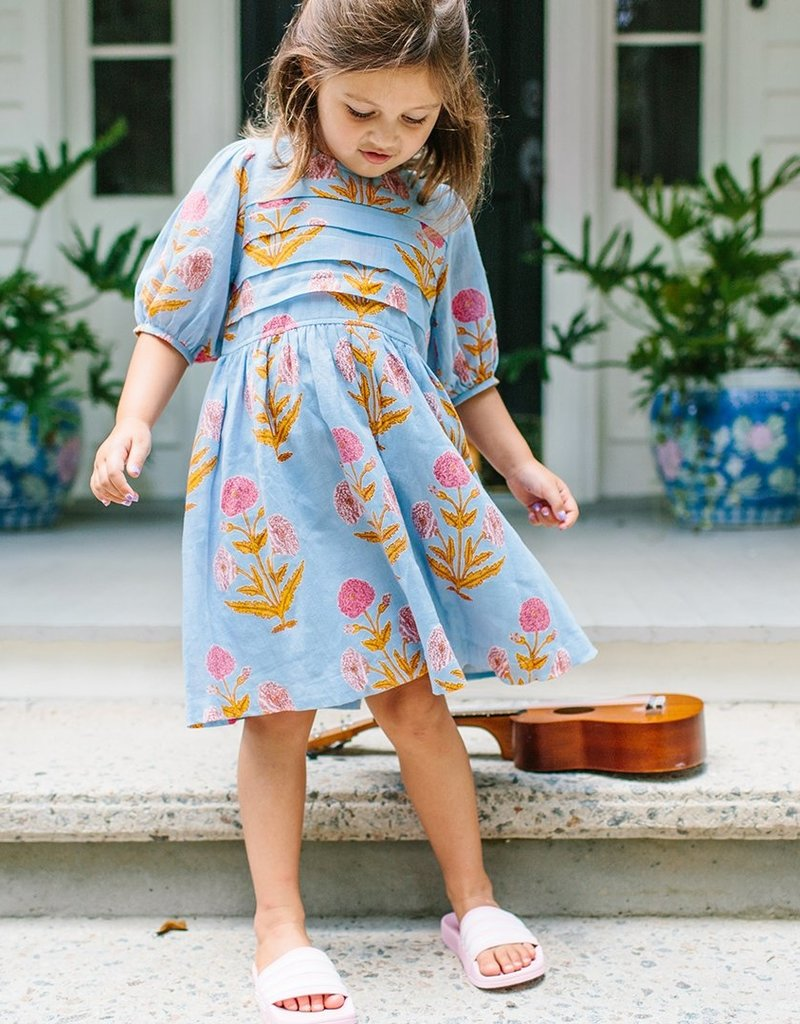 Pink Chicken Evelyn Dress Blue Bell
