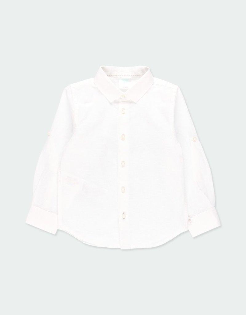 Boboli Boboli Boys White L/S Shirt