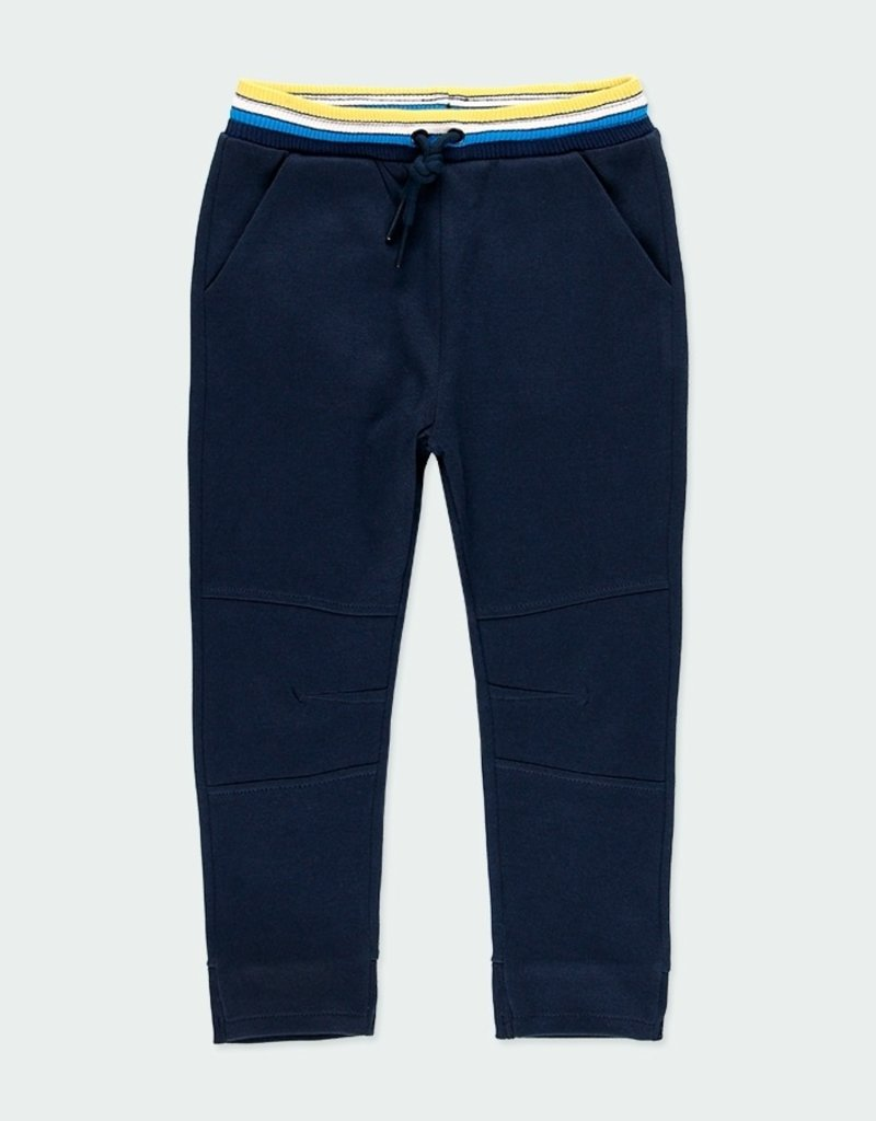 Boboli Navy Fleece Pants /Ribbed Waist