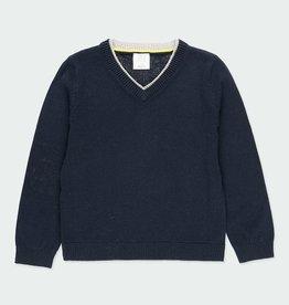 Boboli Boboli Navy Sweater w/Elbow Pads 5-14