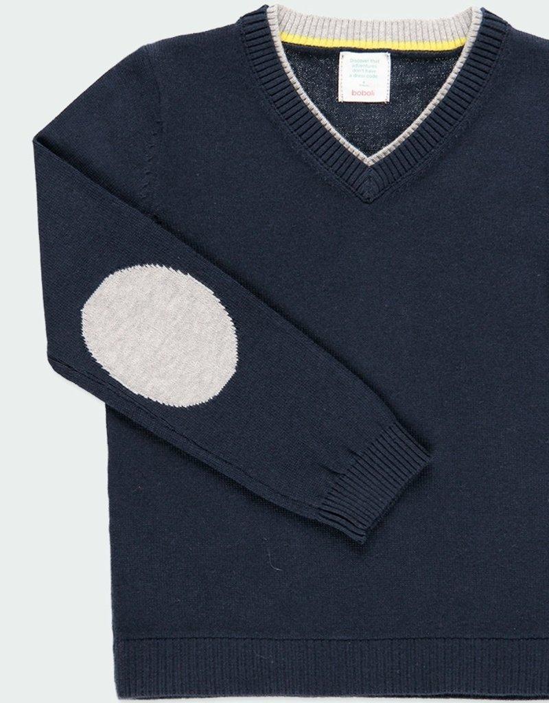 Boboli Boboli Navy Sweater w/Elbow Pads
