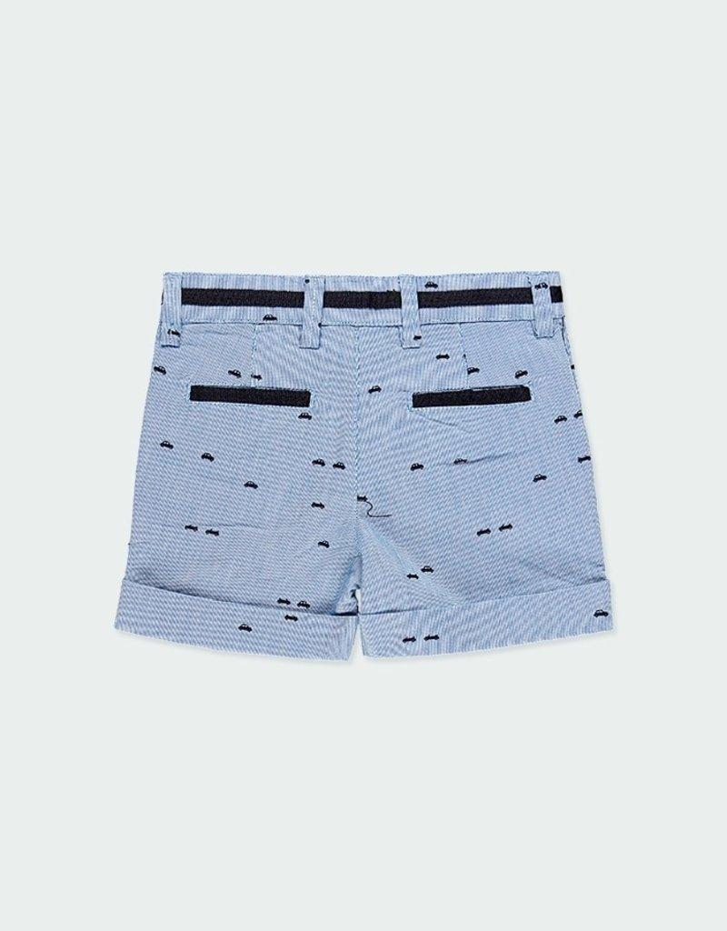Boboli Oxford Shorts w/Car Print