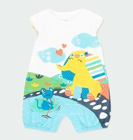 Boboli Colorful Elephant Print Shortall