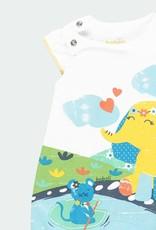 Boboli Colorful Elephant Print Shortall