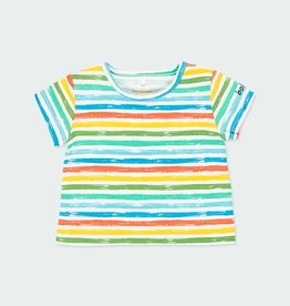 Boboli Colorful Stripe Tee 3M-12M