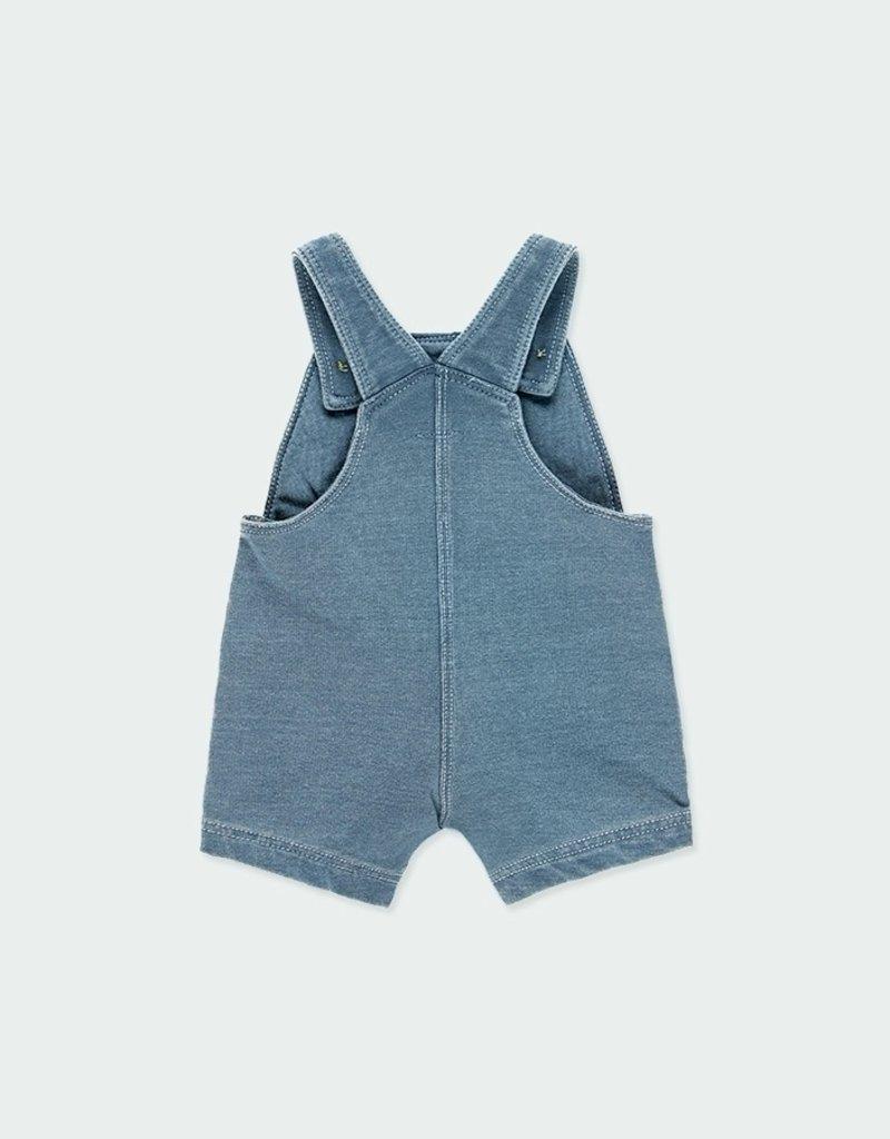 Boboli Fleece Denim Style Shortalls