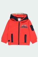 Boboli Fleece Red Hooded Jacket