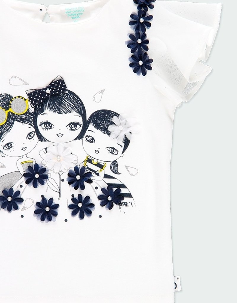 Boboli Knit Top w/3 Girls Print