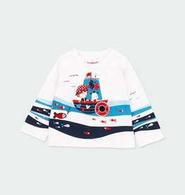 Boboli Lil' Girl Fishing L/S Tee 6M-18M