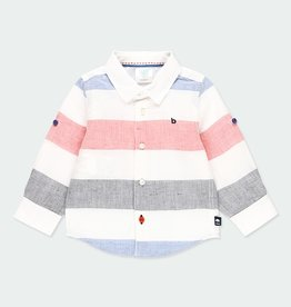 Boboli Linen L/S Wide Stripe Shirt 2-6
