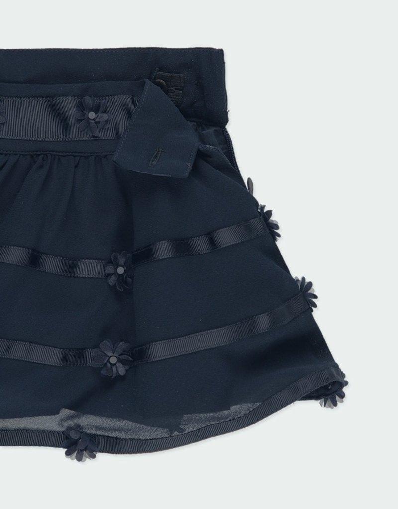 Boboli Navy Gauze Skirt