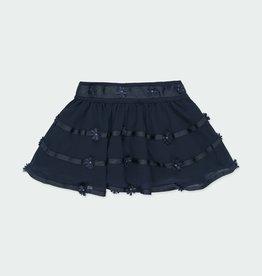 Boboli Navy Gauze Skirt 3-6