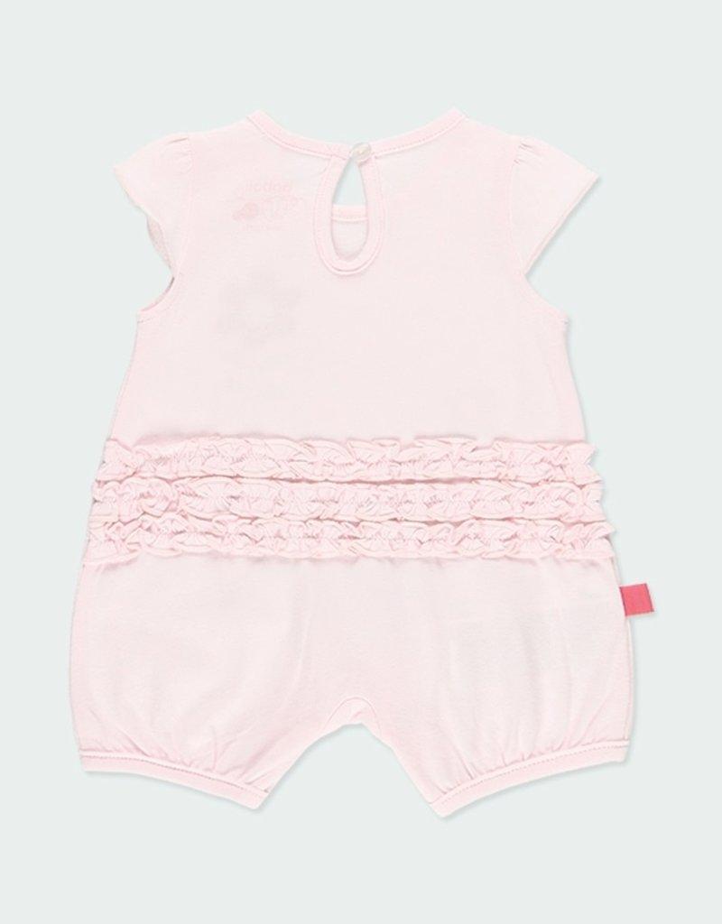 Boboli Pink Floral Print Playsuit