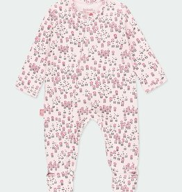 Boboli Pink Snail Print Footie