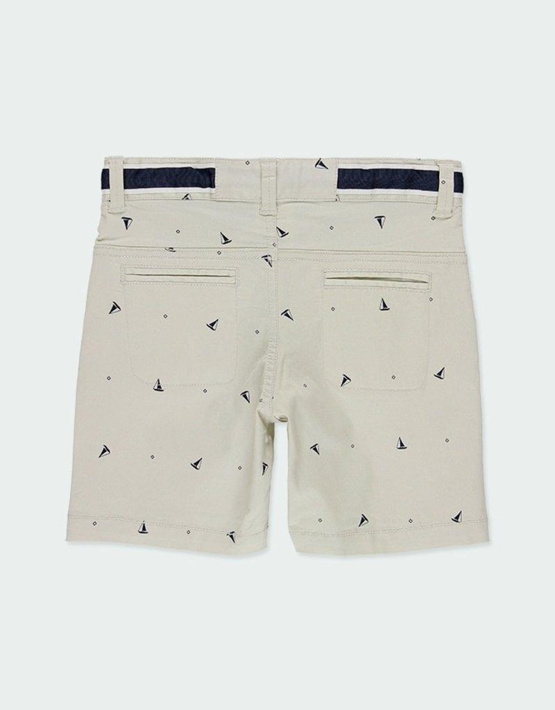 Boboli Print Gabardine Bermuda Shorts