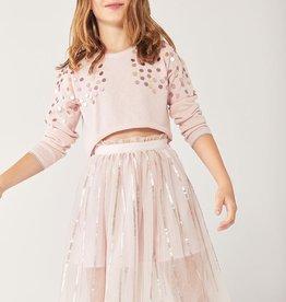 Boboli Rose Sweater w/Sequins