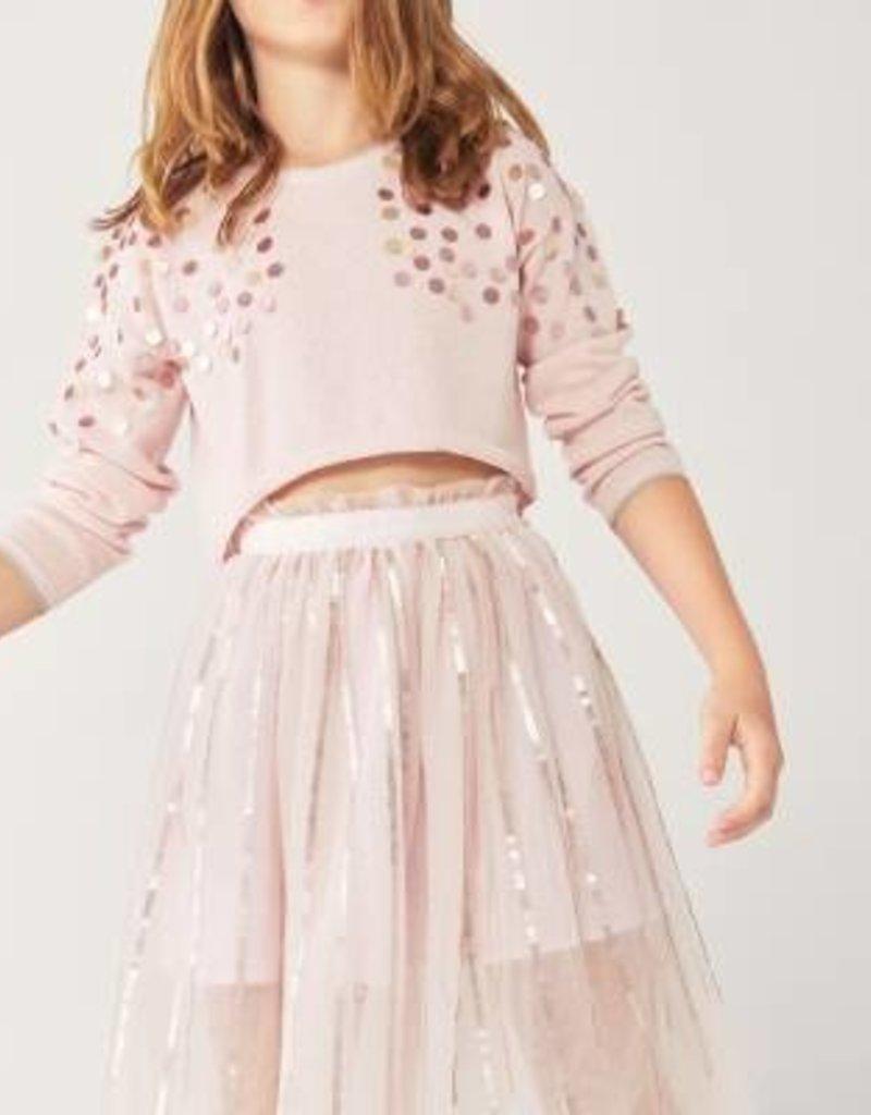 Boboli Rose Tulle Skirt