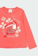 Boboli Toucan L/S Tee Coral