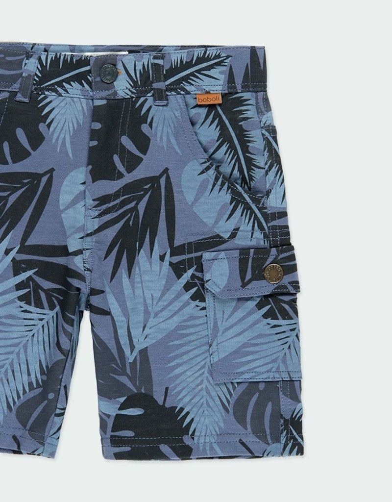 Boboli Navy Print Bermuda Shorts