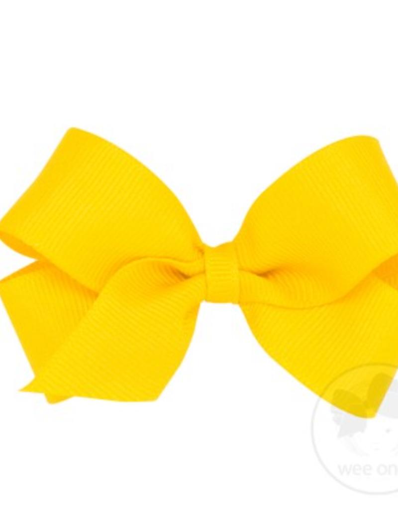 Wee Ones Mini Grosgrain Bow Yellow
