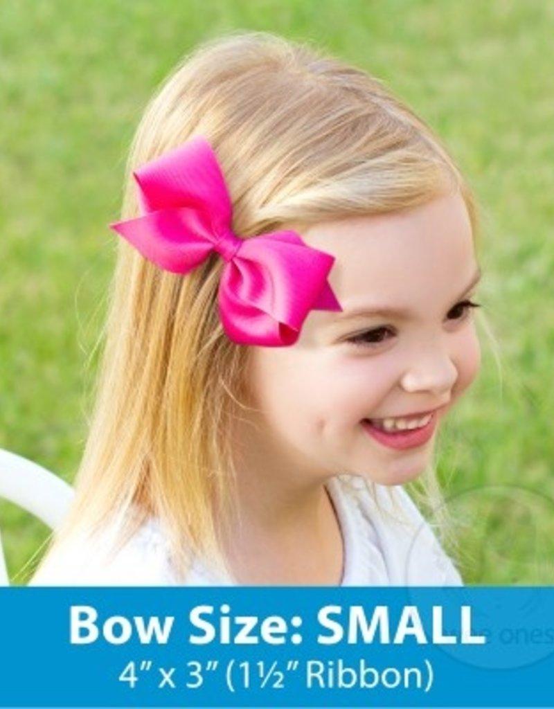 Wee Ones Small Grosgrain Bow New Aqua