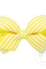 Wee Ones Mini Seersucker Bow Yellow