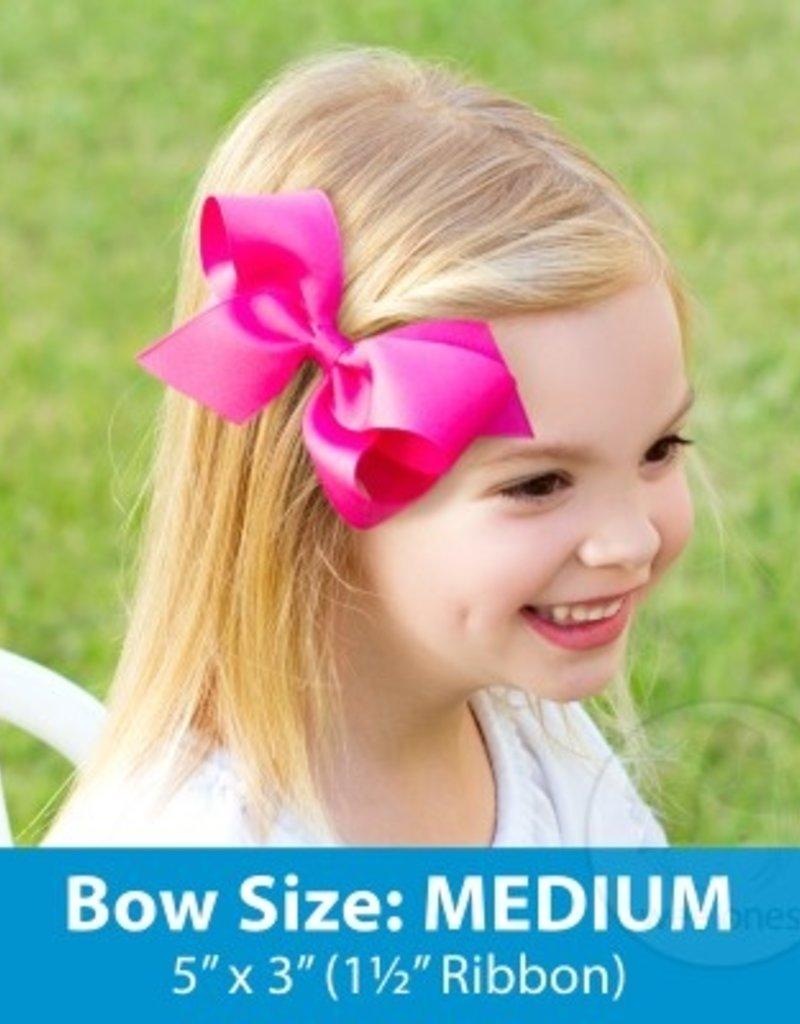 Wee Ones Med Seersucker Bow Hot Pink