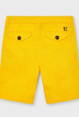 Mayoral Twill Chino Shorts Yellow