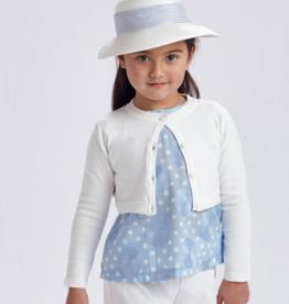 Mayoral Basic Knit Cardigan White