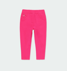Boboli Stretch Fleece Leggings Hibiscus 2-4