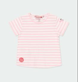 Boboli Pink S/S Striped Tee 2-4