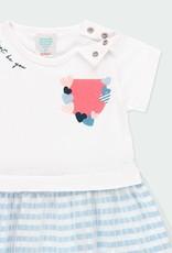 Boboli Knit Dress w/Tulle Skirt