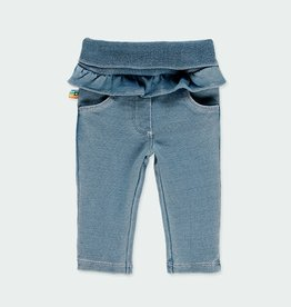 Boboli Fleece Denim Leggings w/Ruffle