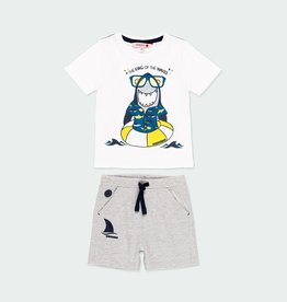 Boboli Boys Shark 2pc Short Set 2-6