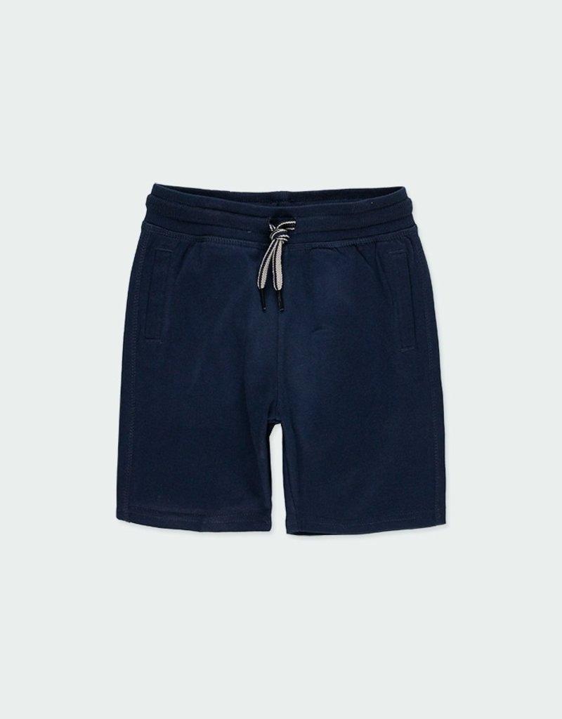 Boboli Boboli Navy Knit Bermuda Shorts