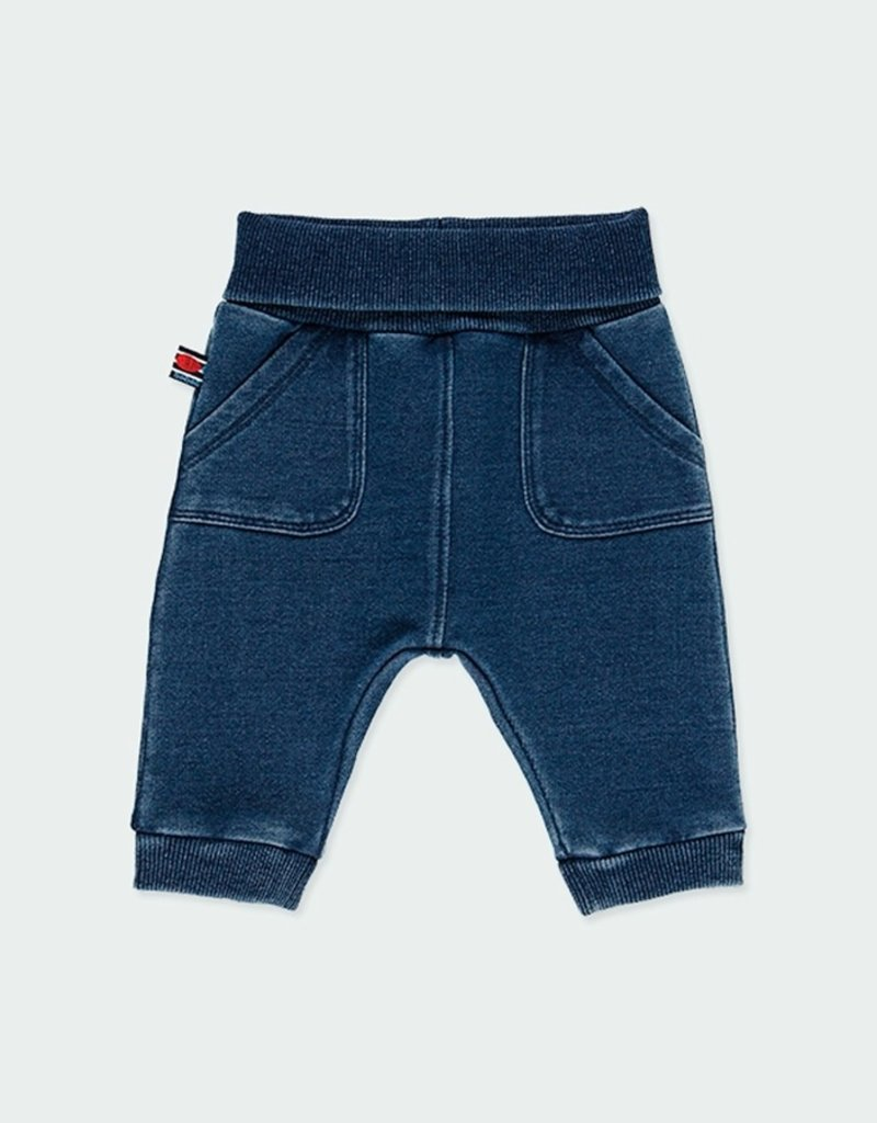 Boboli Blue Fleece Denim Pants
