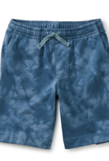 Tea Collection Vacation Shorts Tie Dye Steel Blue