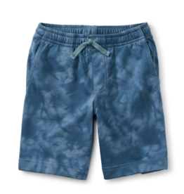 Tea Collection Vacation Shorts Tie Dye Steel Blue 2-14