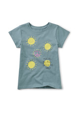 Tea Collection Under the Sun Graphic Tee Steel Blue