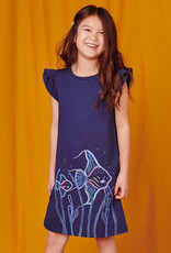 Tea Collection Tulip Sleeve Mini Dress Whale Blue