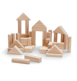 Plan Toys 40 Unit Blocks Natural