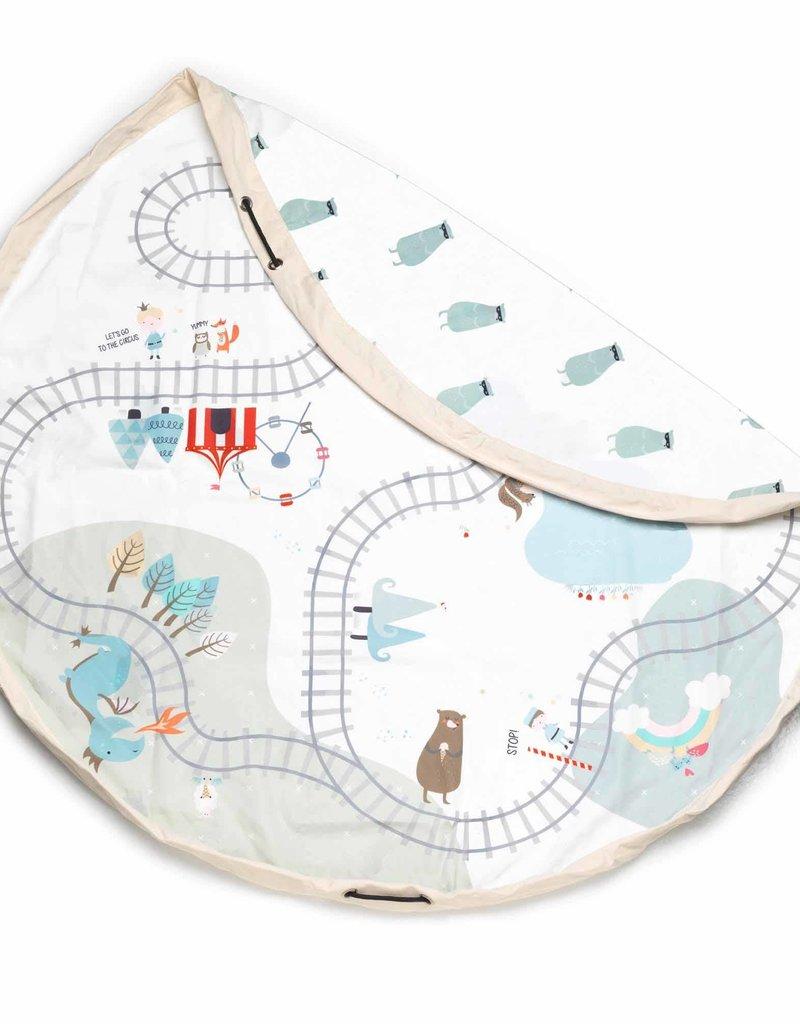 Play & Go Train Map/Bears Playmat/Toy Storage Bag