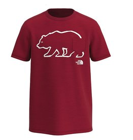 North Face S/S Bear Tri Blend Tee Red