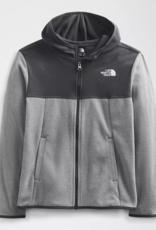 North Face Boys Glacier Full Zip Hoody Med Grey/Asphalt