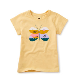 Tea Collection Butterfly Graphic Tee Soft Gold