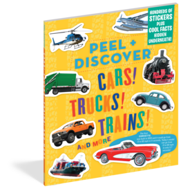 Workman Publishing Peel + Discover: Cars! Trucks! Trains!