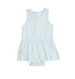 Angel Dear Gingham Daisy Bodysuit w/Skirt
