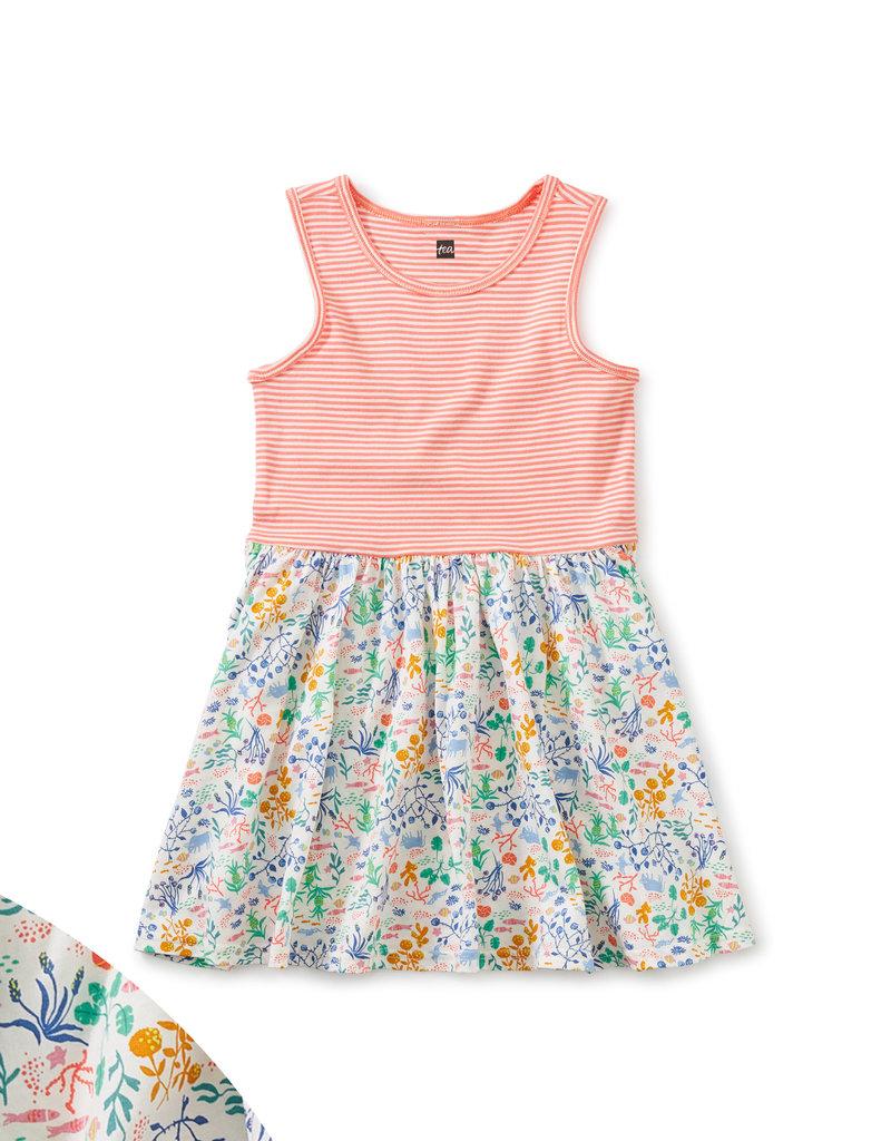 Tea Collection Print Mix Skirted Dress Azores Island