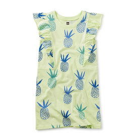 Tea Collection S/S Ruffle Dress Pineapples